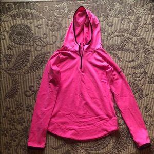 Girls Pink Nike sweatshirt with hood